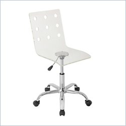 Lumisource Swiss Acrylic Office Chair in Clear Acrylic
