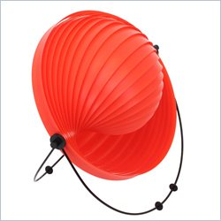 Lumisource Shell Table Lamp in Red