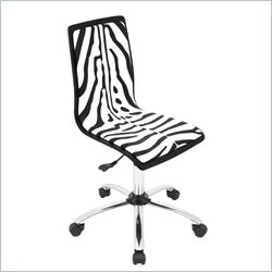 Lumisource Computer Office Chair in Printed Zebra