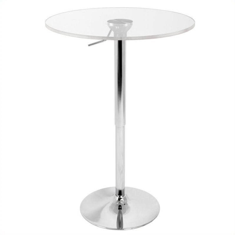 Adjustable Bar Table with Clear Top