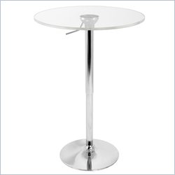 Lumisource Adjustable Bar Table with Clear Top