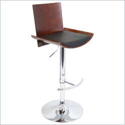 Lumisource Vittorio Bar Stool in Cherry and Black