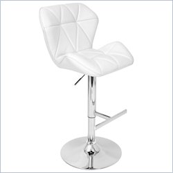 Lumisource Jubilee Bar Stool in White