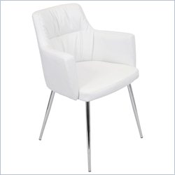 Lumisource Jackson Dining Chair in White