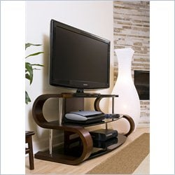 Lumisource Metro Series 120 TV Stand in Birch Veneer