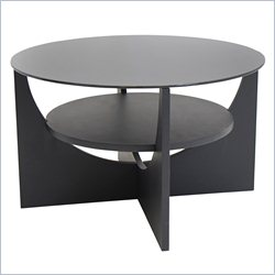 Lumisource U-shaped Round Coffee Table in Wenge