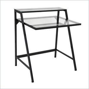 Lumisource 2-Tier Desk in Black and Clear