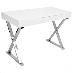 Lumisource Luster Desk in White
