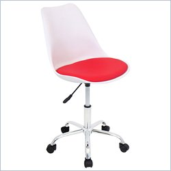 Lumisource Petal Office Chair in White and Red