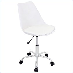 Lumisource Petal Office Chair in White