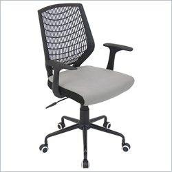 Lumisource Network Office Chair in Black and Silver