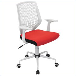 Lumisource Network Office Chair in White and Red