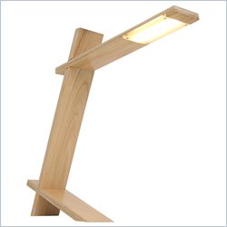 Lumisource LED Plank Desk Lamp in Natural Wood
