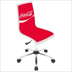 Lumisource Coca Cola Printed Office Chair in Red and White