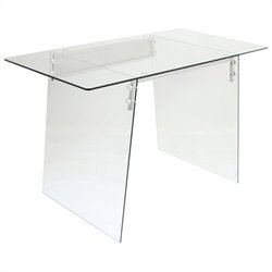 Lumisource Glacier Office Desk in Clear and Black