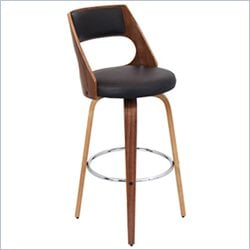 Lumisource Cecina Barstool in Walnut and Brown