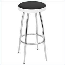 Lumisource Topspin Barstool in Black