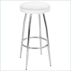 Lumisource Topspin Barstool in White