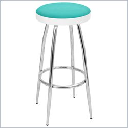 Lumisource Topspin Barstool in Light Blue