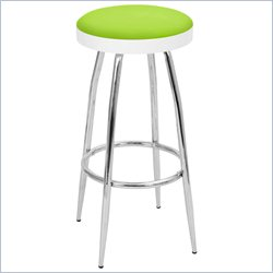 Lumisource Topspin Barstool in Lime Green