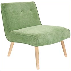 Lumisource Vintage Neo Accent Chair in Green