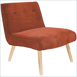 Lumisource Vintage Neo Accent Chair in Dark Orange