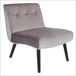 Lumisource Vintage Crush Accent Chair in Silver