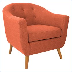 Lumisource Rockwell Accent Chair in Orange