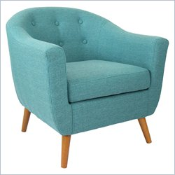Lumisource Rockwell Accent Chair in Teal