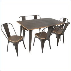 Lumisource Oregon 6 Piece Dining Set