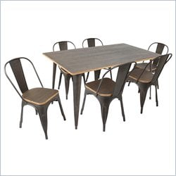 Lumisource Oregon 7 Piece Dining Set