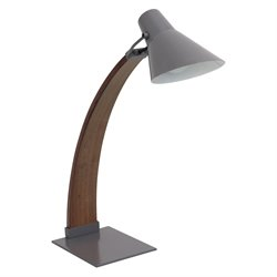 Noah Table Lamp in Walnut and Grey