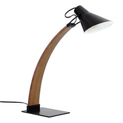 Noah Table Lamp in Walnut and Black
