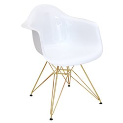 Accent Chair in White and Gold
