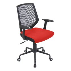 Lumisource Network Office Chair in Red and Black