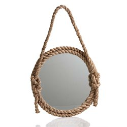 Zodax Round Decorative Rope Mirror with Knots