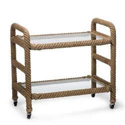 Zodax Cap D'Ail Rope Bar Cart in Natural