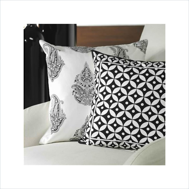 Modern Chic Pillows : Modern Chic Paisley Print Throw Pillow - IN-4143