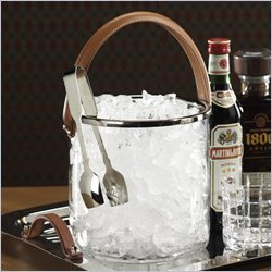 Zodax Equestrian Ice Bucket Leather Handle