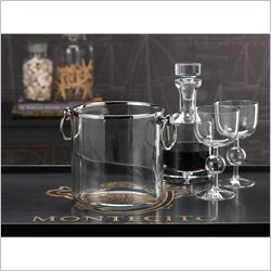 Zodax Montecito Ice Bucket with Ring Handles
