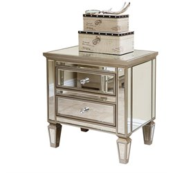 Abbyson Living Omni 2 Drawer Accent Chest in Silver