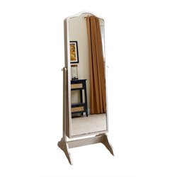 Abbyson Living Sophie Floor Mirror and Jewelry Armoire in Silver