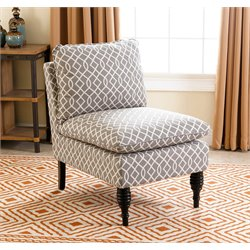Abbyson Living Vivian Slipper Chair in Gray Swirl