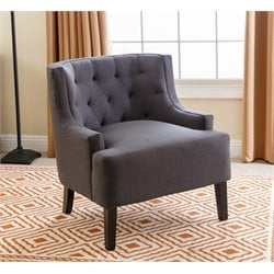 Abbyson Living ChloeTufted Armchair in Charcoal
