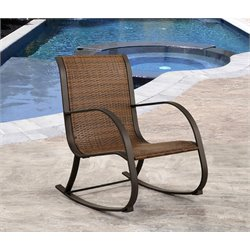 Hadley Wicker Outdoor Rocking Chair