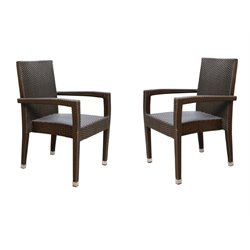Abbyson Living Cabana Outdoor Wicker Dining Chair (Set of 2)