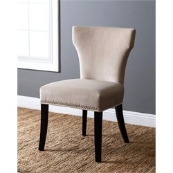 Abbyson Living Nolan Velvet Dining Chair in Ivory