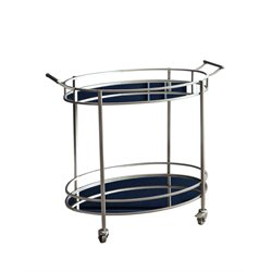 Blake Oval Round Bar Cart