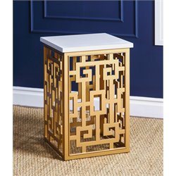 Abbyson Living Micah End Table in Gold