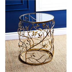 Bently Round Glass End Table